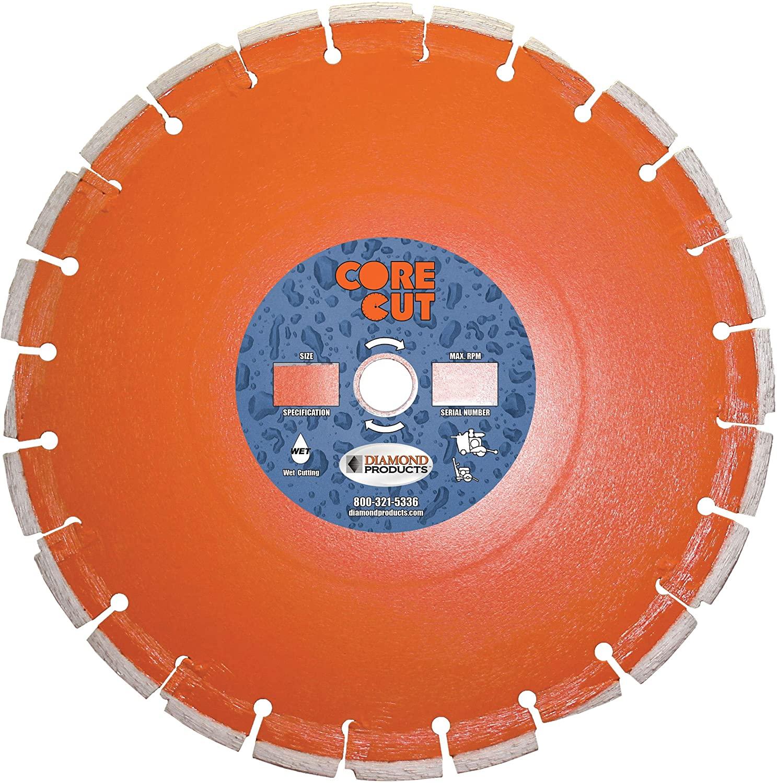 Diamond Products Core Cut 20065DIA Heavy Duty Cured Concrete Diamond Blade, 14-Inch x 0.250-Inch x 1-Inch, Orange