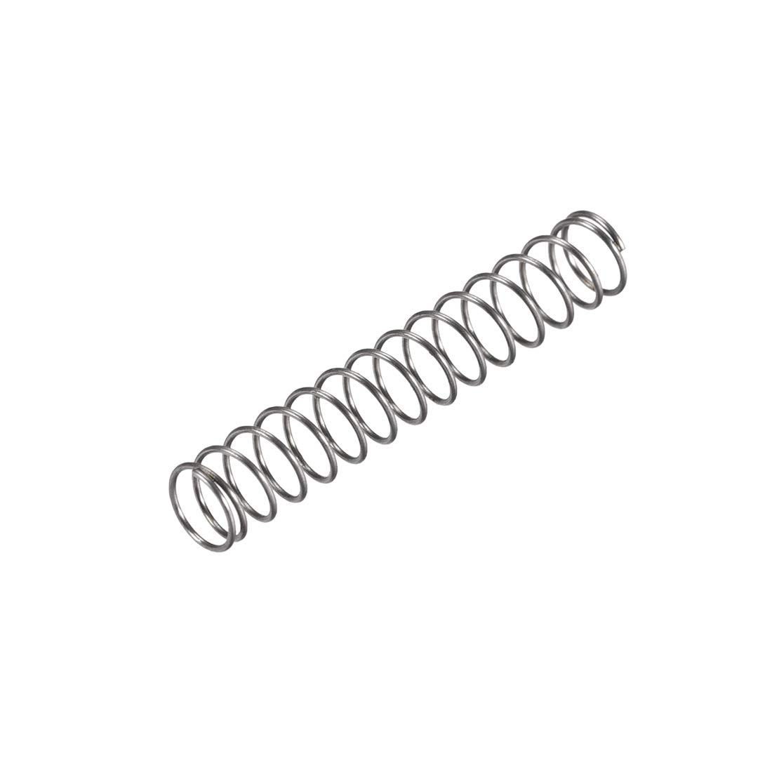 uxcell Compression Spring,6mm OD, 0.5mm Wire Size, 19.25mm Compressed Length, 35mm Free Length,8N Load Capacity,Gray,10pcs