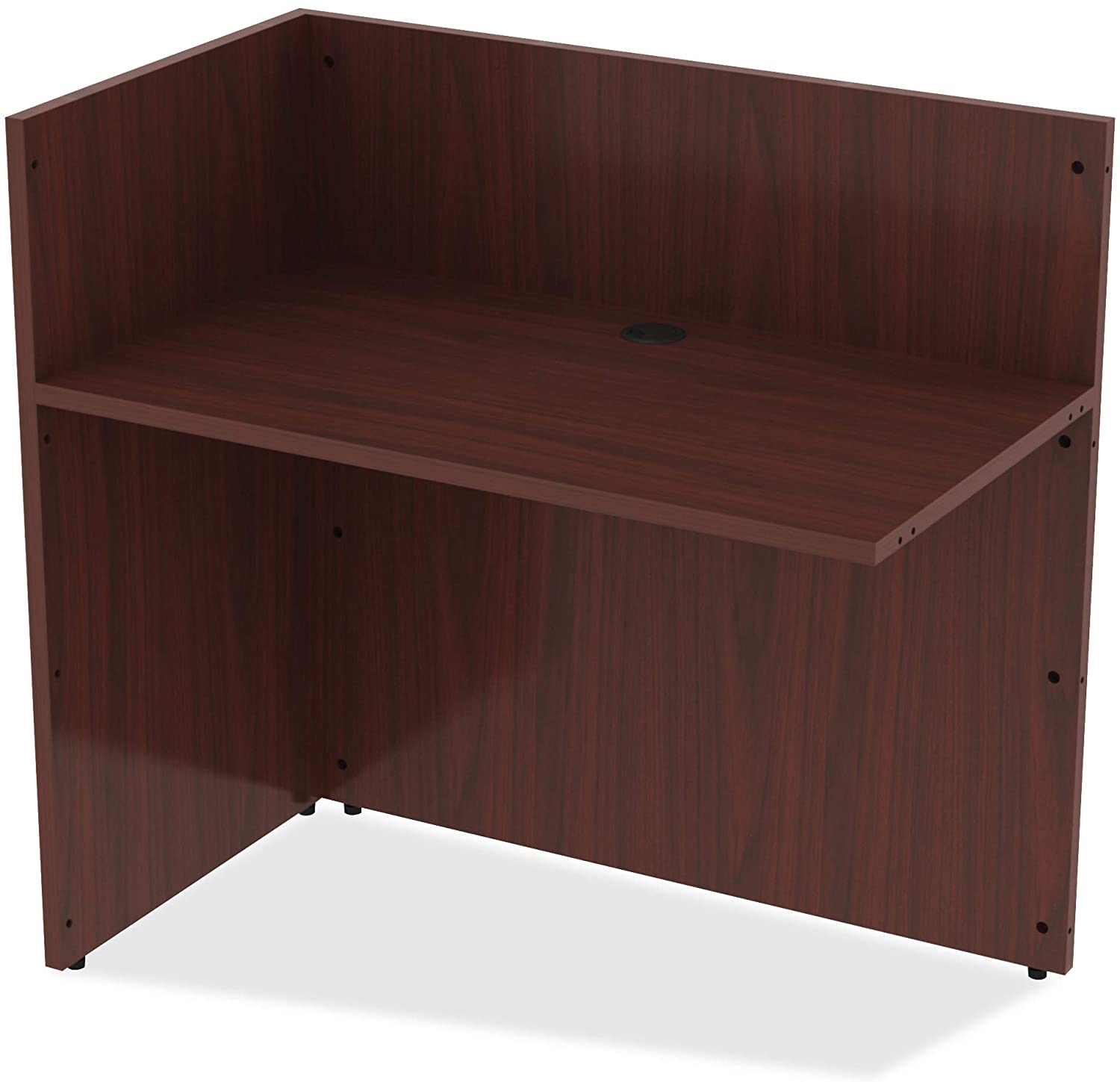 Lorell Essentials Reception Desk, Mahogany