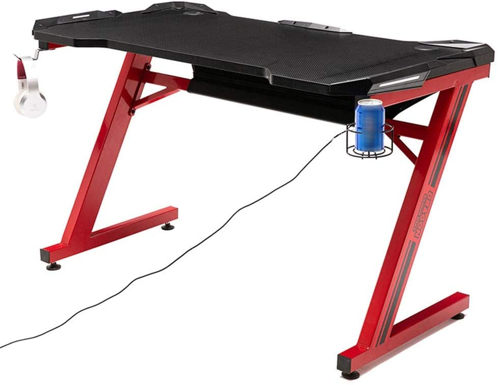 E-Sports Table, Home E-Sports Game Table, Independent Desk Single, E-Sports Table Desktop Computer Table 116.0 cm 70.0 cm 12.0 cm 823 (Color : Red)