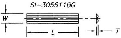 Reversible Insert Knives - 2 Sided Back Groove (pkg of 10) - L 50 | W 5.5 | T 1.1 | Back Groove | T03SMG