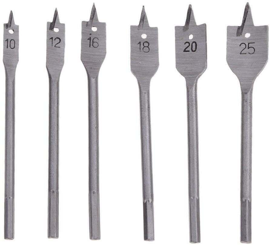 DORLIONA DIU# 6PCs High Speed Steel Wood Drill Bit Set Hole Saw Cutter Woodworking Tools for Wood Drilling