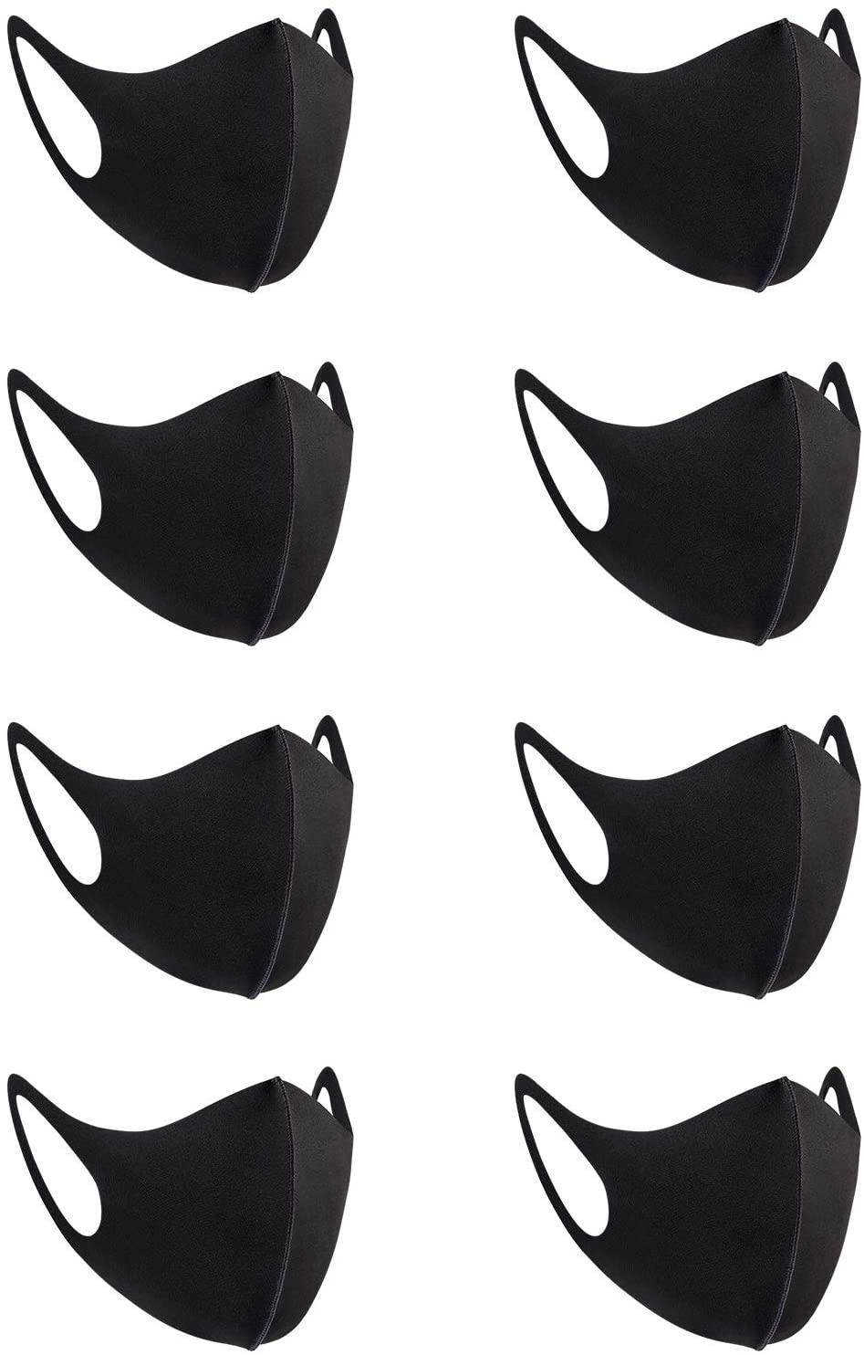 8 Pack Fashion Cloth Fabric Face Protection, Unisex Earloop Bandana Balaclava Washable, Reusable Mask