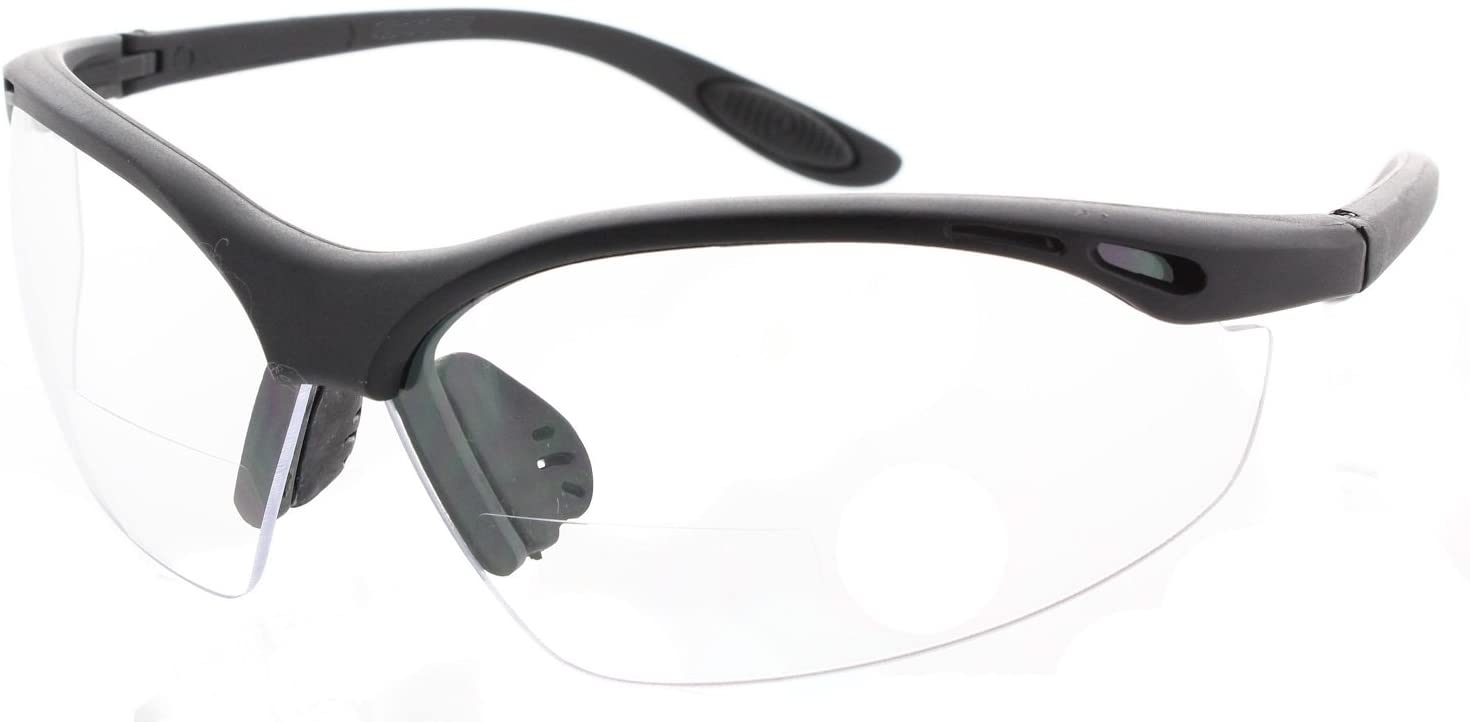 Fiore Bifocal Tinted and Clear Lens High Performance Safety Glasses with Rubber Nose Pad