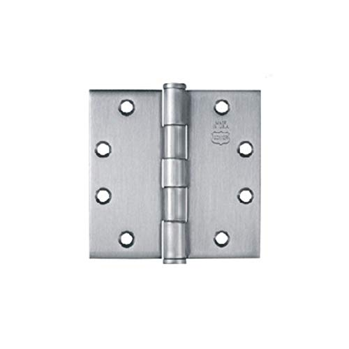 Bommer BB5000-500-652 5x5in Hinge-Full Mortise-Standard Weight-Ball Bearing-Steel Base-Satin Chrome