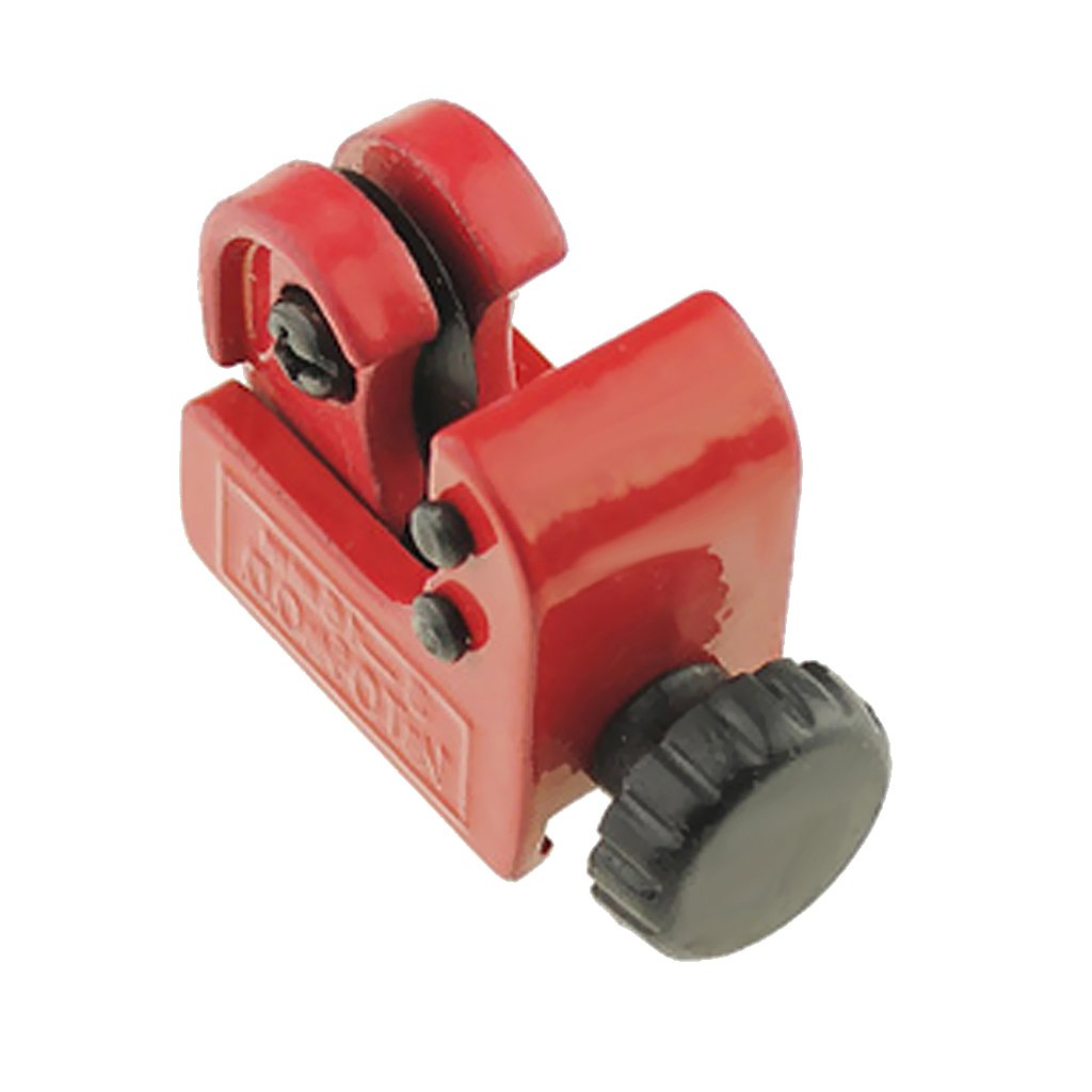 MagiDeal Mini Copper Pipe Cutter 3mm-16mm Brass Tube Cutting Hand Tool Slicer Red 100mm