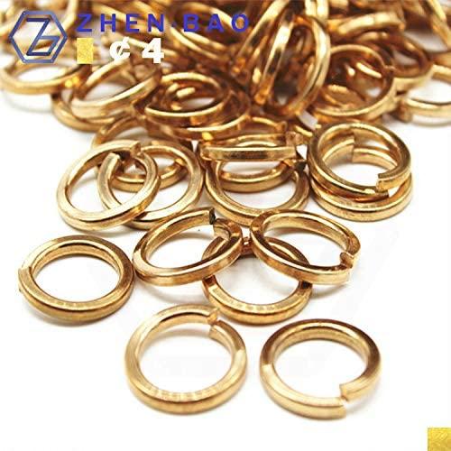 Ochoos M4, 50pcs High Elastic Material, Phosphor Bronze Spring Washer, Fastener, Zhen.bao