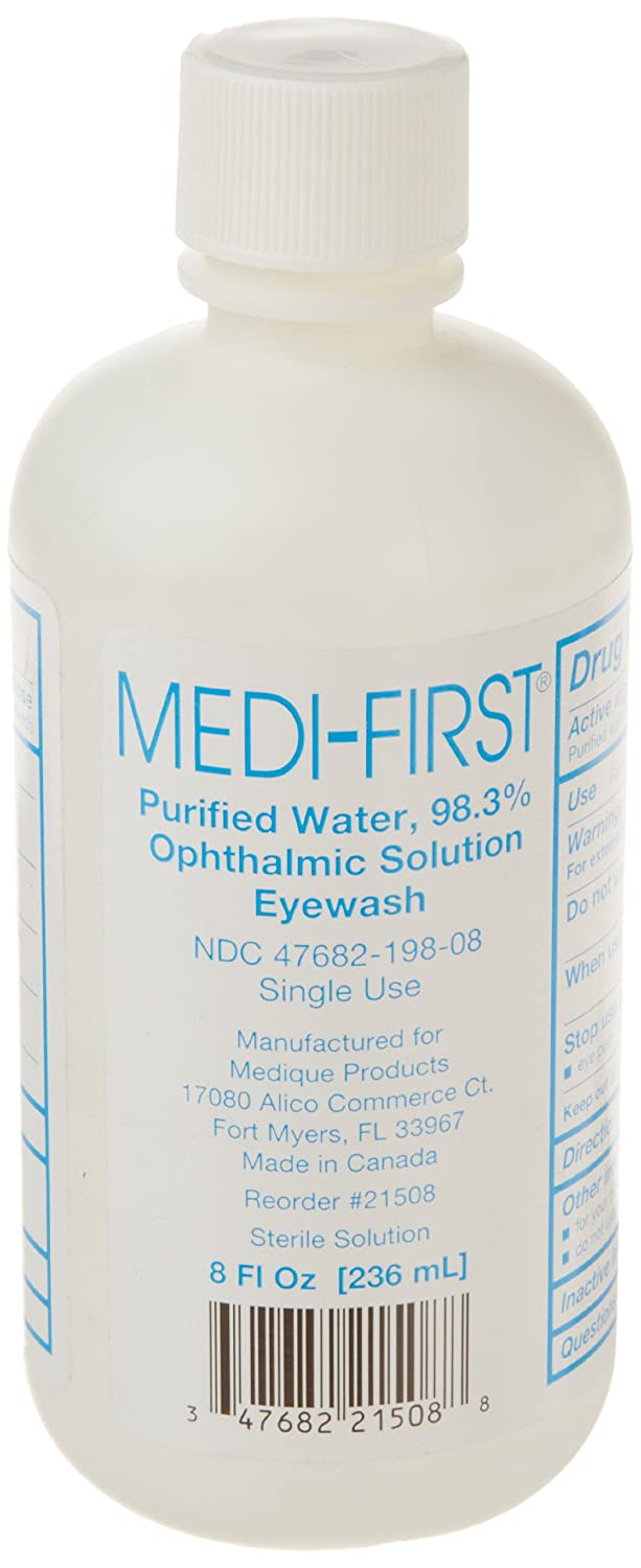 Medique 21508 Medi-First Sterile Eye Wash, 8 oz Bottle