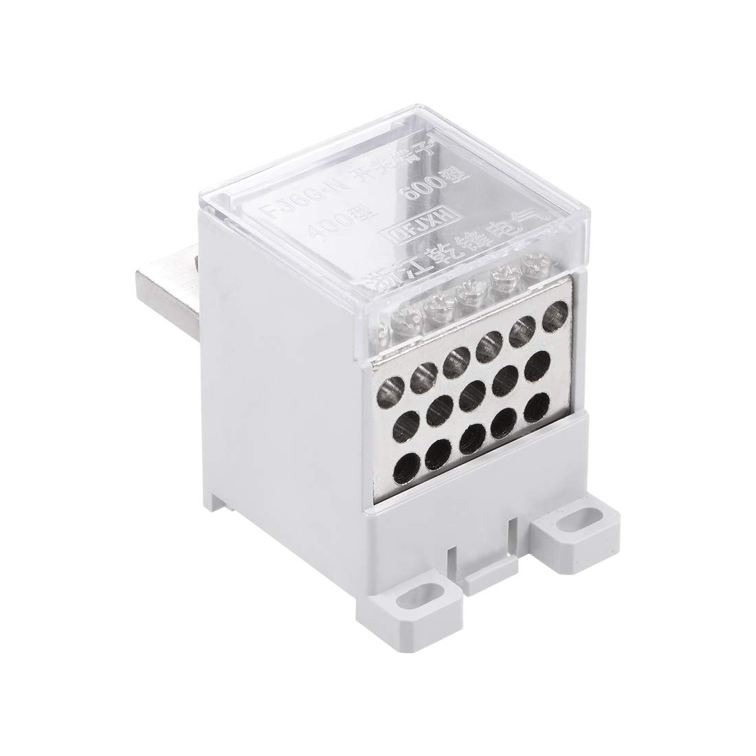 uxcell 1 in 16 Out DIN Rail Terminal Blocks 690V 400A Max Input Distribution Block for Circuit Breaker
