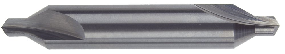 Morse Cutting Tools 53908 Combined Drills and Countersinks, Solid Carbide, Standard Length, Plain Type, Bright Finish, 60 Degree Included Angle, 8 Size