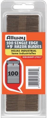 Allway Tools 0.009-Inch Industrial Quality Single Edge Razor Blades, 100-Pack