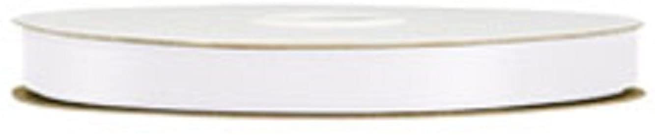 "White Double Face Satin Ribbon ⅝""W 100 Yds Per Roll"