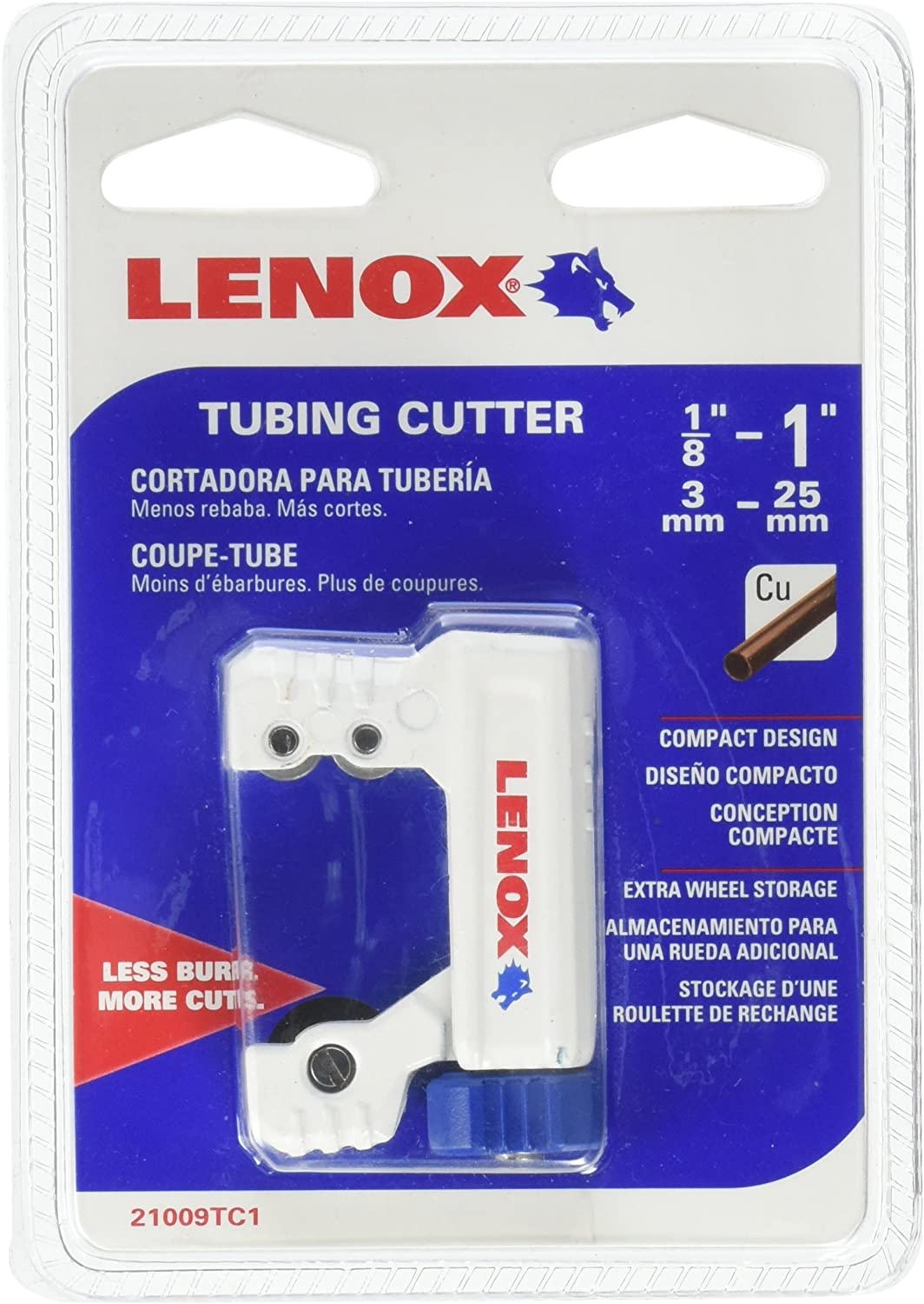 LENOX Tools Tubing Cutter, 1/8- to 1-inch (21009TC1)