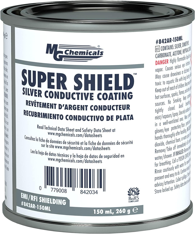 MG Chemicals Silver Super Shield Conductive Coating, 150 mL, Metal Jar