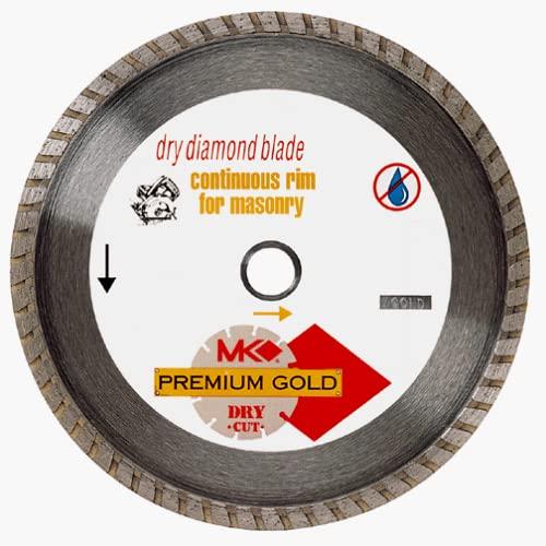 MK Diamond 150667 4-Inch Dry Cutting Continuous Rim Turbo Diamond Blade with 5/8-Inch Arbor for Masonry