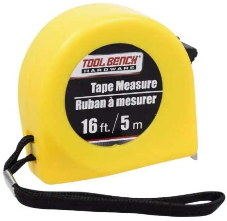 Tool Bench Hardware Tape Measure - 16 feet