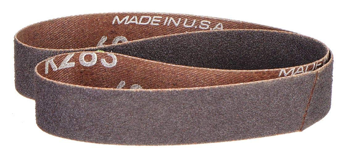Sanding Belt, 1/2 W x 12 In L, Grit 40