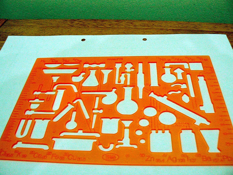Chemistry Laboratory Theme Technical Stencil Template