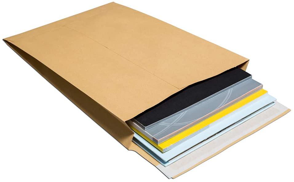 Blake Purely Packaging B4 352 x 250 x 50 mm 140 GSM Peel & Seal Gusset Pocket (45070) Manilla - Pack of 125