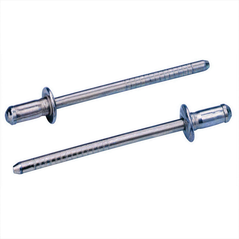 Avdel Avibulb 0BN01-00509 Blind Rivet; 5/32 Inch (0.156 Inch), (0.039-0.118 Inch GR), Dome HD, Steel, Zinc CLR Finish