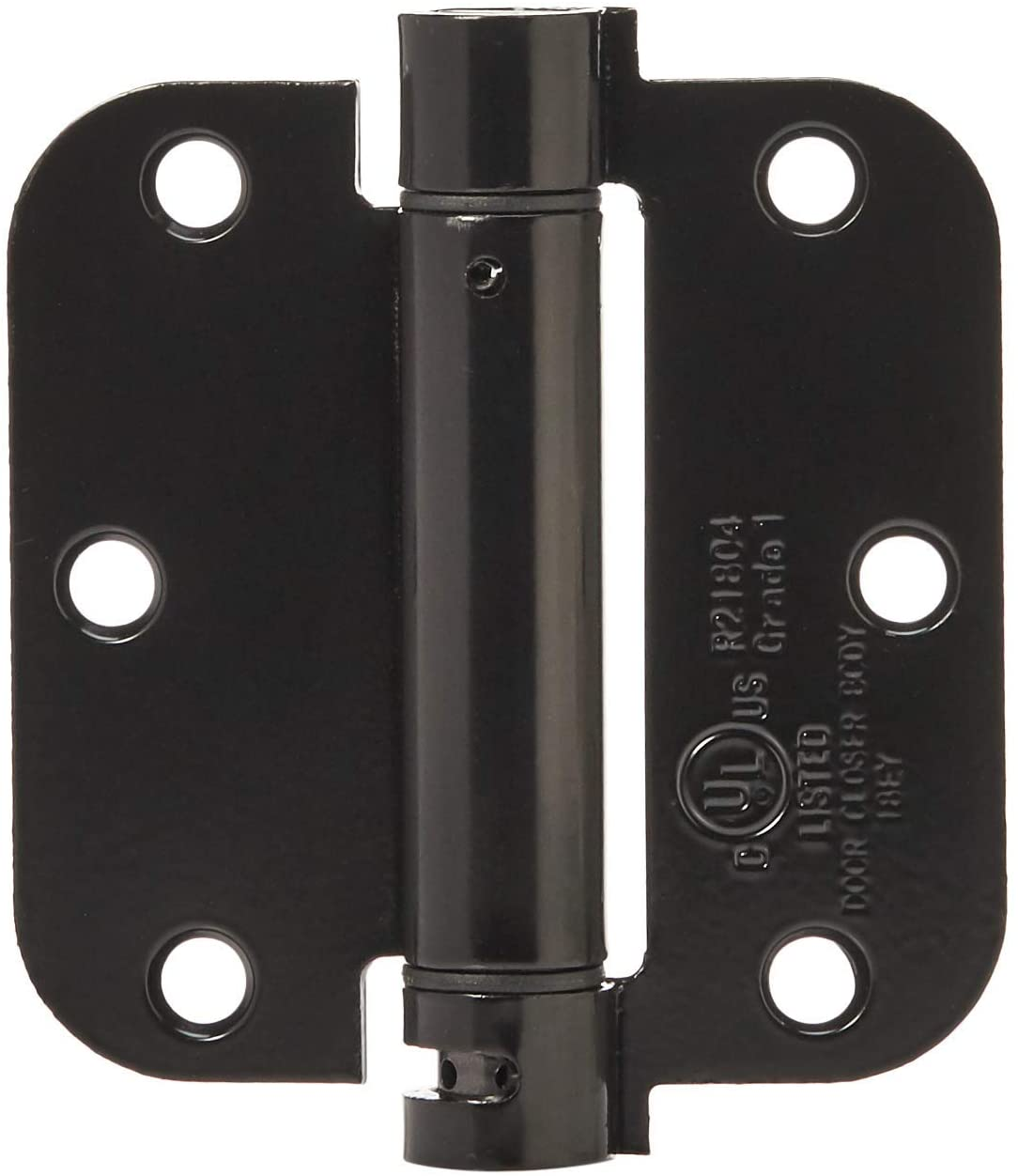 DHgateBasics Self-Closing Door Hinge, 3.5 Inch x 3.5 Inch, 1 Piece, Gloss Black