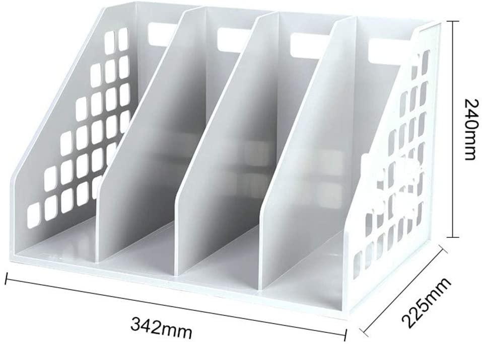 Quadruple Box Box Desktop Rack Storage Column Basket Bookshelf Table Information Rack Book StandQuadruple Gray