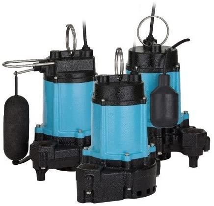 Little Giant 510852 10EC Series 1/2 hp Piggyback Mechanical Float Cast Iron Base Sump Pump
