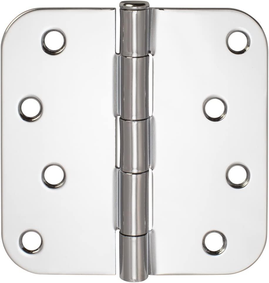 Door Hinges, Plain Bearing, 4 Inch X 4 Inch X 5/8 Inch Radius