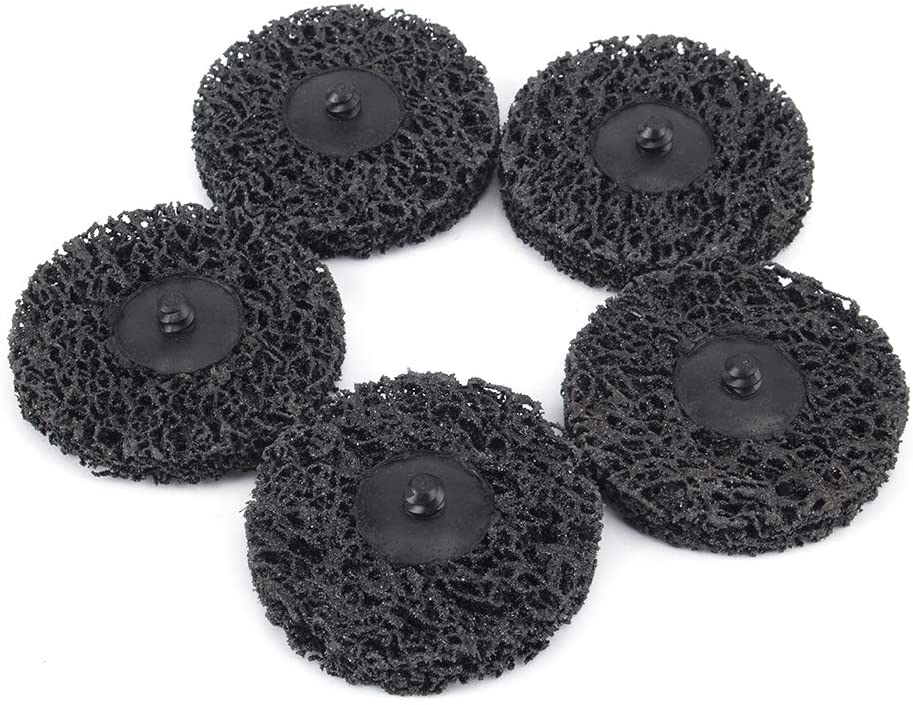 5pcs 70mm Abrasive Extra Coarse Cleaning Stripping Quick Change Disc Surface Conditioning Remove Paint