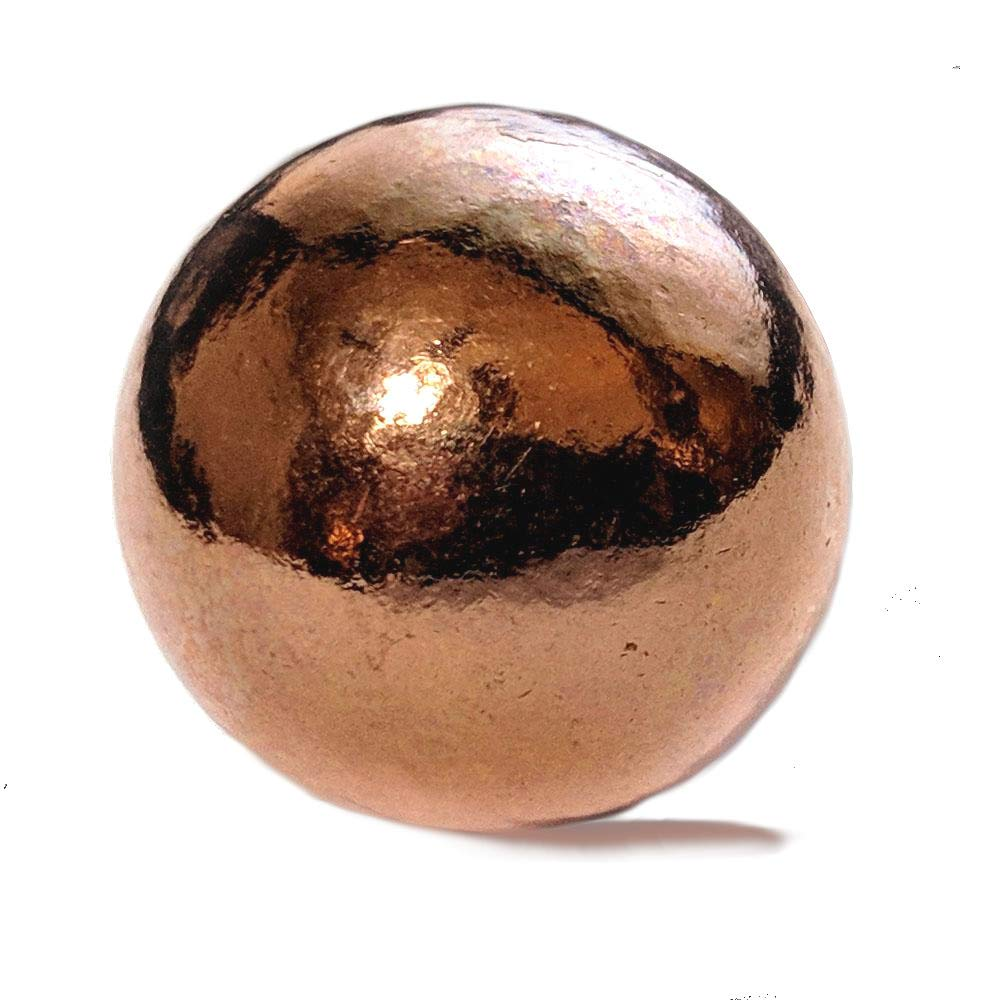 Pure Copper Sphere 2 (50 mm) - for Healing, Decorative Use or Grounding and Alchemical Magic