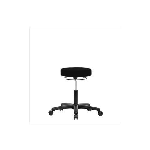 Thomas VDHSO-RG-RC-c8605 Desk Height Stool with Black Nylon Base, Caster