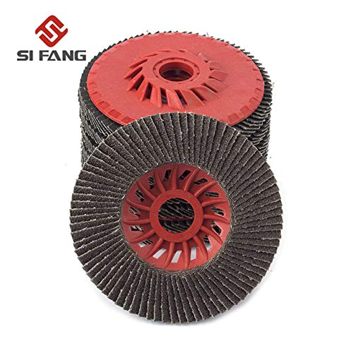Stock-Home Abrasive Tools, 2/5/10Pcs Aluminum Oxide Flap Disc Grinding Wheels for Metal Carbon Steel 60# - (Grit: 10Pcs)