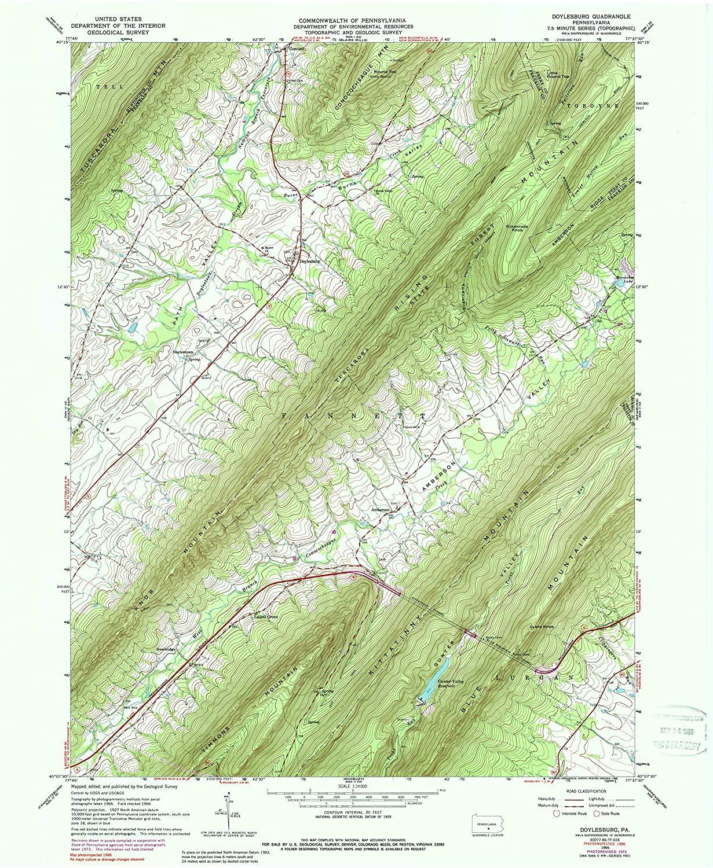 Map Print - Doylesburg, Pennsylvania (1966), 1:24000 Scale - 24