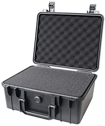 Safety protection instrument case toolbox equipment outdoor suitcase waterproof shockproof with sponge 280240130mm (Color : Box with foam, Size : 280x240x130mm)