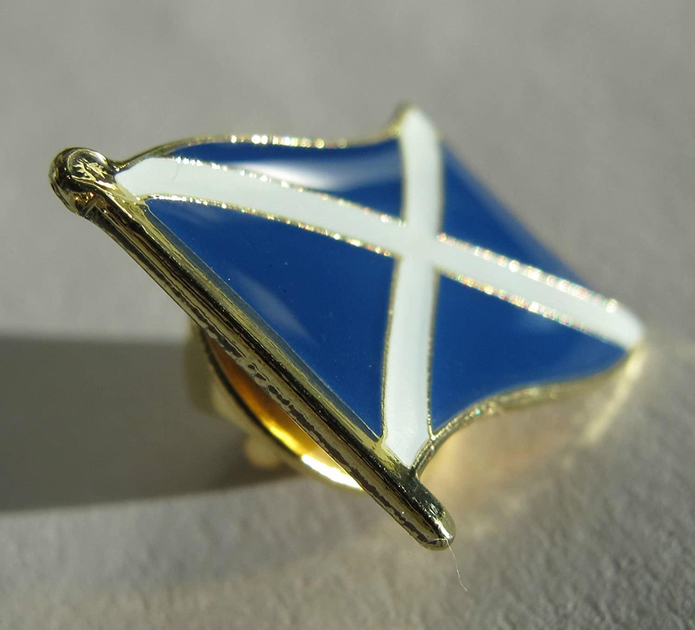 Gloss Enamel St Andrew's Cross (Saltire) Scotland Flag Badge
