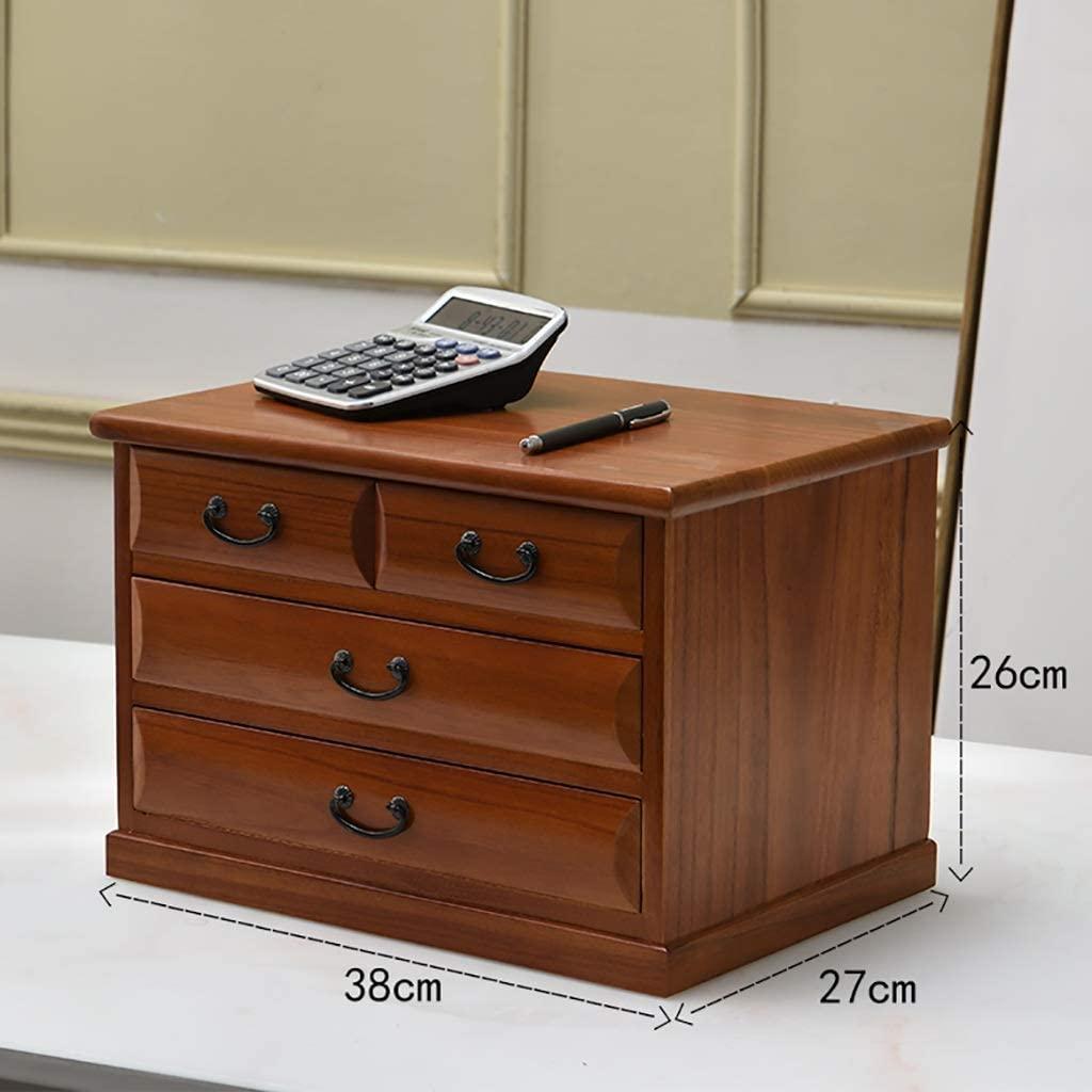 QNN Desktop Office File Cabinet Wooden Storage Locker Low Cabinet 4/5/6/7 Drawers Desktop Archive Cabinet Data Cabinet Put A4 Paper,382726Cm
