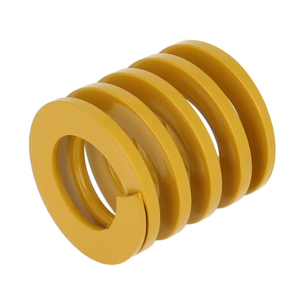 MroMax 30mm OD 30mm Long Spiral Stamping Light Load Compression Mould Die Spring Yellow 1Pcs