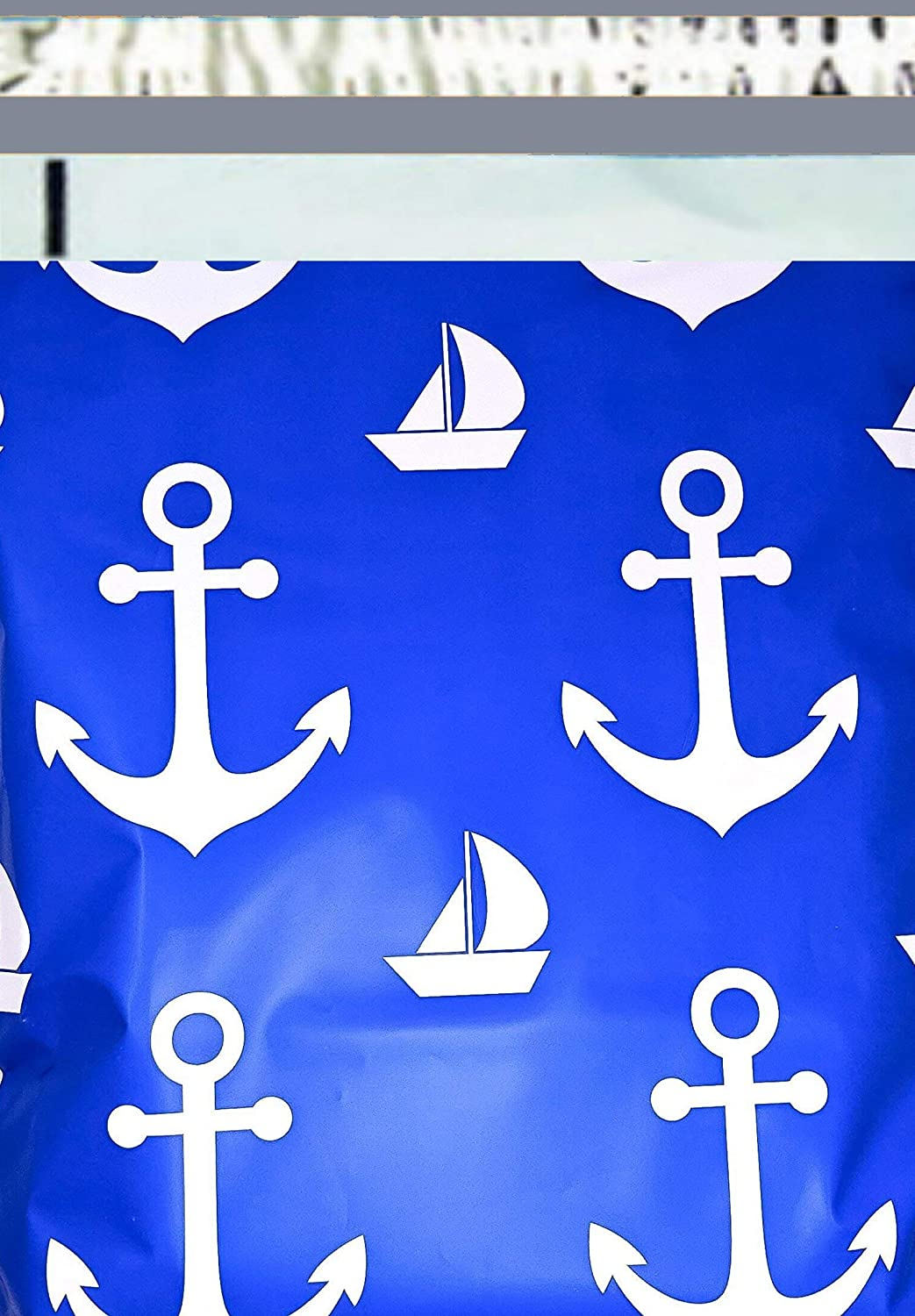 2.5 Mil 200 10x13 (Nautical Design) Color Boutique Designer Poly Mailers Shipping Bags
