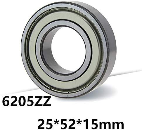 BTCS-X 10PCS Multi-purpose Bearing 6205ZZ Deep Groove Ball Bearing 6205ZZ 6205ZZ 25 52 15mm 25 52 15 Bearing Steel Material