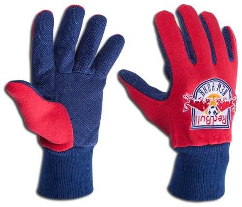Red Bull New York MISL Indoor Soccer Adult Utility Work Grip Gloves