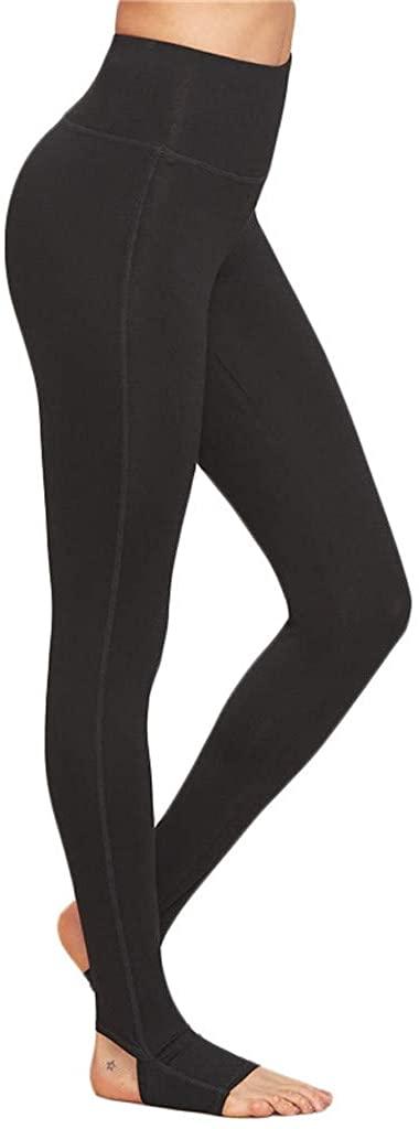 Petite/Tall Women's Goddess Tummy Control Workout Leggings Over The Heel High Waisted Leggings Extra Long Yoga Pants