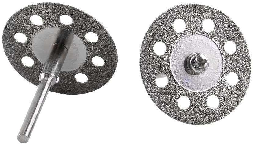 8 Holes Circular Saw Blades Drill Saw Blades 30mm Saw Blades Mini Wheel Discs Cutting Wheel Discs Diamond Circular Saw Blades with 2 Mandrel Carbon Steel