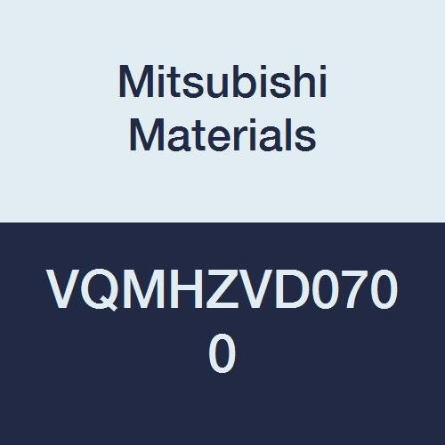 Mitsubishi Materials VQMHZVD0700 Series VQMHZV Carbide Smart Miracle End Mill, Medium Flute, High Helix 45° for Drilling and Slotting, Square Shape, 3 Flutes, 7 mm Cutting Dia, 16 mm LOC