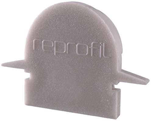 Reprofile end Cap R-ET-01-08, Grey, 23 mm, 2 Pieces