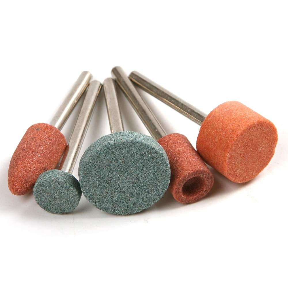 JPONLINE High Hardness 10Pcs/Set Grinding Wheel Head Ceramic Grinding Stone Polishing Drill Bits for Rotary Tool
