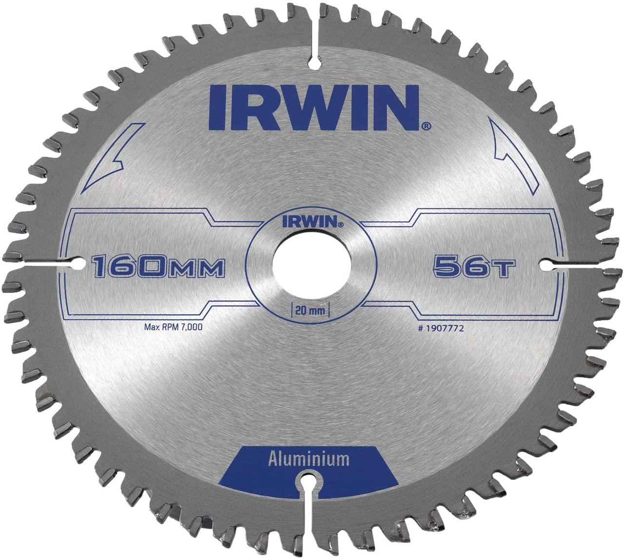 Irwin Tools - Professional Circular Saw Blade 160 x 20mm x 56T - Aluminium