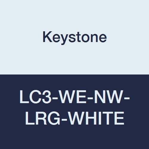 Keystone LC3-WE-NW-LRG-WHITE Polypropylene Lab Coat, 3 Pocket, Elastic Wrists, Snap Front, Single Collar, Large, White (Pack of 30)