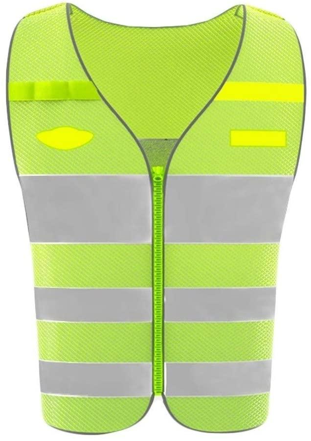 Safety Vest High Visibility Reflective Vest, Workwear Vest Warning Breathable Mesh Overalls High Visibility Vest Night Travel Safety Reflective Safety Vest Child Safety Vest