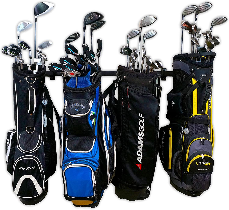 StoreYourBoard Golf Club Organizer, Garage Storage Rack, Adjustable Wall Mounted Hanger, Golf Bags and Accessories