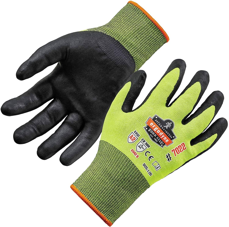 Nitrile Coated Work Gloves, Cut Resistant Level A2, Grip For Dry Enviroments, Ergodyne ProFlex 7022